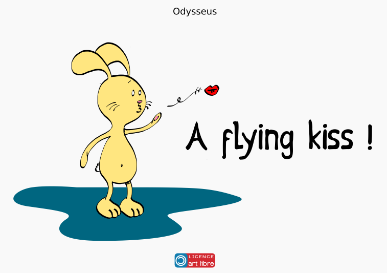 A flying kiss !
